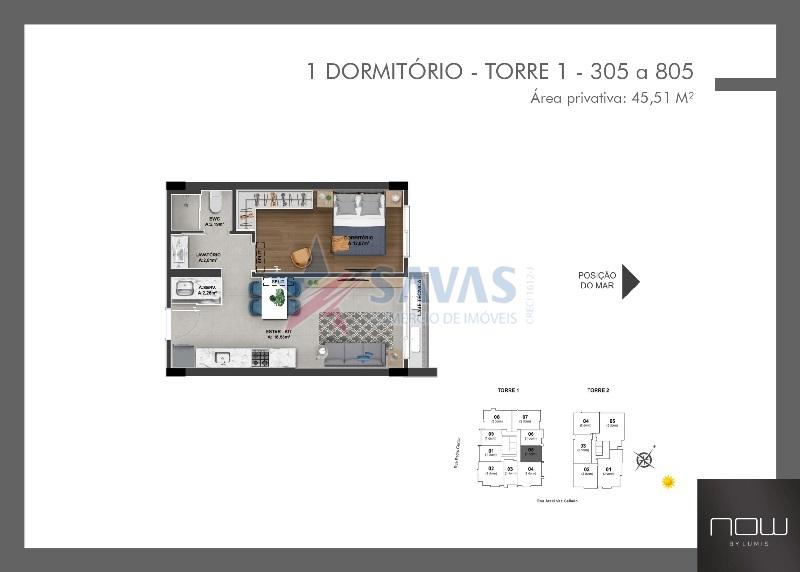 LOFTS E APTOS DE 01,02 E 03 DORMITÓRIOS